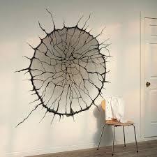 Living Room Wall Art 3d Cracked Wall Art Mural Decor Spider Web Wallpaper Decal Poster
