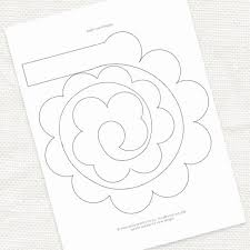 Paper Flower Template Pdf Diy Flower Template Baffling Paper Rose Template Pdf Paper Flower