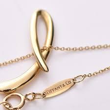 tiffany co 18k yellow gold elsa peretti letter l pendant