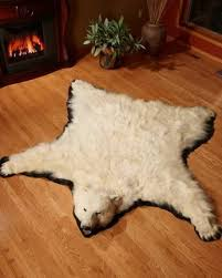 pretentious polar bear skin rug rugs grizzly buffalo hide