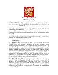 Catering Agreement Catering Contract