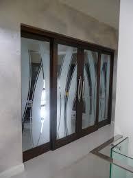 frameless glass door etched glass inglassdesign