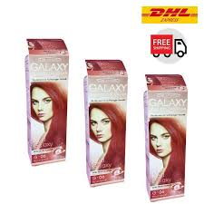 3x 100 g red fashion cover gray hair