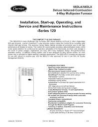 Blinking Yellow Light On Carrier Furnace Carrier 58dla Instruction Manual Manualzz Com