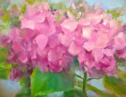 painting a day daily painters small oil painting hydrangea venice italy