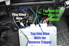 Back up Camera Wiring   How to wire to the brake light   YouTube also Add A Camera To Your Car's Original LCD Screen as well Add A Camera To Your Car's Original LCD Screen furthermore Alpine IVA W205   Lorex SG4933R rear camera install  w pics    The furthermore Toyota Ta a Backup Camera Wiring Harness  Toyota  Wiring Diagrams likewise Ford Mustang Backup Camera   YouTube in addition How to locate and wire your reverse lights to your rear view camera in addition 2005 2009 Mustang Raxiom OE Style GPS Navigation w  Back Up Camera together with Reverse Gear Signal Wire   Ford Truck Enthusiasts Forums further  further Add A Camera To Your Car's Original LCD Screen. on 2014 ford mustang backup camera wiring diagram