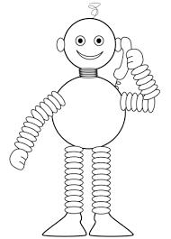 Robot Praat Aan De Telefoon Kleurplaat Gratis Kleurplaten Printen