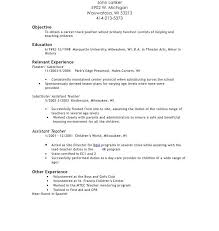 preschool resume samples resume samples for daycare teacher danaya us