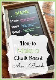 Chalk Board Menu Board How To Make A Chalk Board Menu Board Chalkboard Diy