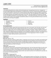 Game Tester Cv Game Tester Resume Sample Tester Resumes Livecareer