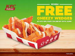 lazada free cheezy wedges at kfc delivery