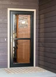 chic screen door glass collection in combination repair andersen replacement panel decor