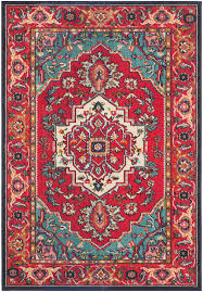 Red And Turquoise Living Room Safavieh Monaco Mnc207c Red Turquoise Rug Http Wwwbuyarearugs