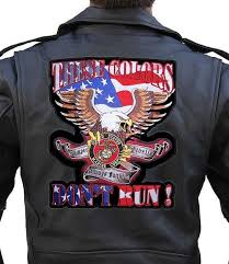 these colors don t run us marines patriotic embroidered biker patch