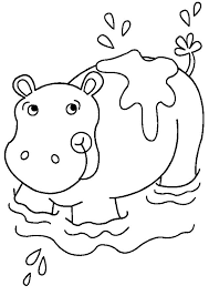 Small Picture African Animal Coloring Pages Hippo Animal Coloring pages of