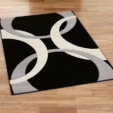 black contemporary area rugs 5 8