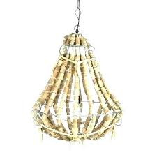 small beaded chandelier wood bead world market lifestyle traders iron amp