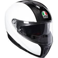 Soft Design Agv Agv Sportmodular Carbon White Helmet