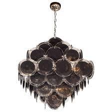 black glass chandelier ultra chic modernist diamond shaped black glass chandelier by for black glass black glass chandelier