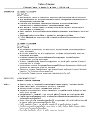 Quality Resume Samples Quality Technician Resume Samples Velvet Jobs 21