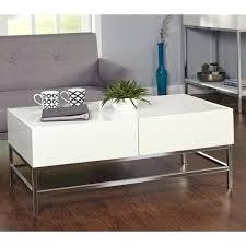white high gloss coffee table ikea simple living metal free