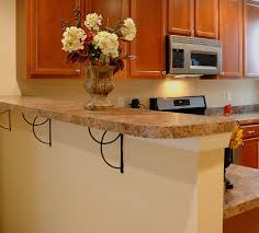 Kitchen: Stand Alone Breakfast Bar Silver Stainless Steel Flour Storage  Container White Marble Tile Floor