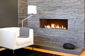 various ideas of stacked stone fireplace based on your available place white sofa and modern floor