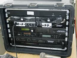 sound system rack. audio system provides realistic sound effects rack d