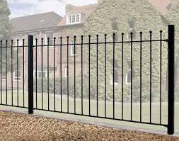 metal fence panels. Manor Wrought Iron Style Metal Garden Fence Panel | 3ft High Panels C