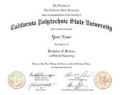Fake Diploma Template Free Polytechnic State University Fake Degree Certificate