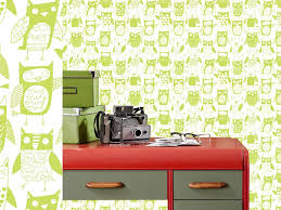 Small Picture Owls Interior Wallpaper Design by Loboloup United States Design