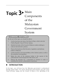 Malaysian Government Structure Chart Topic 3 Main Components Of The Malaysian Government System