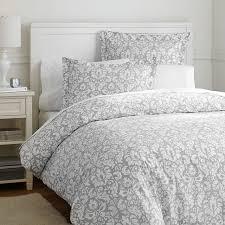 damask duvet cover sham light gray pbteen within twin decor 5