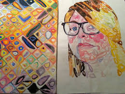 chuck close style research self portrait by themightyezbot
