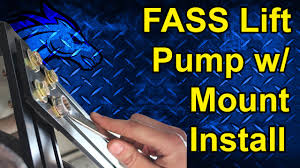 how to install a fass lift pump new mounting system how to install a fass lift pump new mounting system