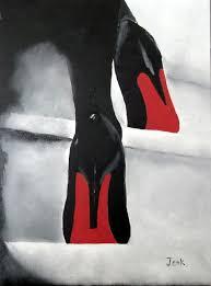 art print of christian louboutin womens black shoes oil painting 7 x 5 high heels on shoe wall art high heels with 150 best shoes shoes shoes images on pinterest ladies shoes
