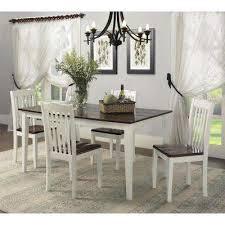 shiloh 5 piece creamy white rustic gany dining set