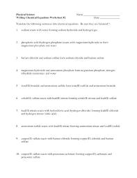 writing and balancing equations worksheet lovely balancing equations practice worksheet best of writing formula from word