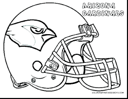 Printable Coloring Pages Nfl Football Helmets Helmet Uk Ball Page