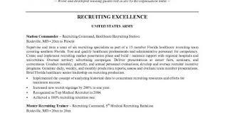 hr recruiter resume format download - Army Recruiter Resume