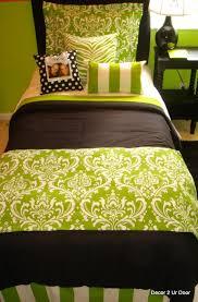 brilliant lime black damask dorm room bedding set decor 2 ur door dorm bedding sets prepare