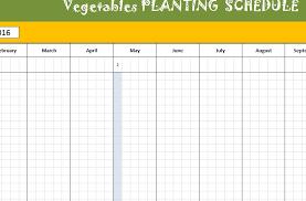 Vegetable Garden Planting Chart Vegetable Planting Schedule