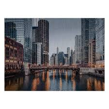 photorealism jacquard wall décor panel chicago river designer fabric fabric com