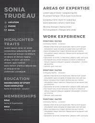 Sonia Trudeau Resume Template