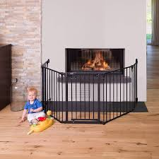 hauck fireplace guard room divider black couk baby