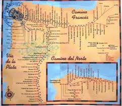 camino de santiago maps & stages Camino De Santiago Map camino frances map, camino del norte map, via de la plata map camino camino de santiago mapa