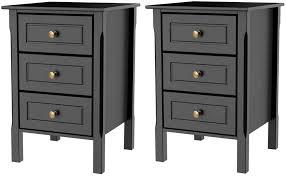 Hulio 1 2 3 Drawer <b>Bedside</b> Chest <b>Cabinet High</b> Gloss Wood ...
