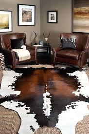 white faux cowhide rug black