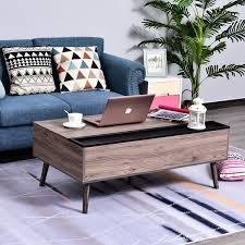 homcom modern lift top coffee table