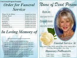 Memorial Program Templates Free